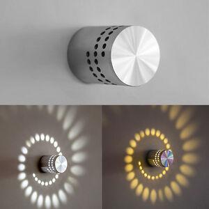 3w modern simple led wall light spiral lamp indoor hallway ktv bar image is loading 3w modern simple led wall light spiral lamp aloadofball Choice Image