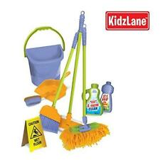 Kids New Durable Cleaning Set W/ Pretend Play House Tools Duster Broom Brush Mop
