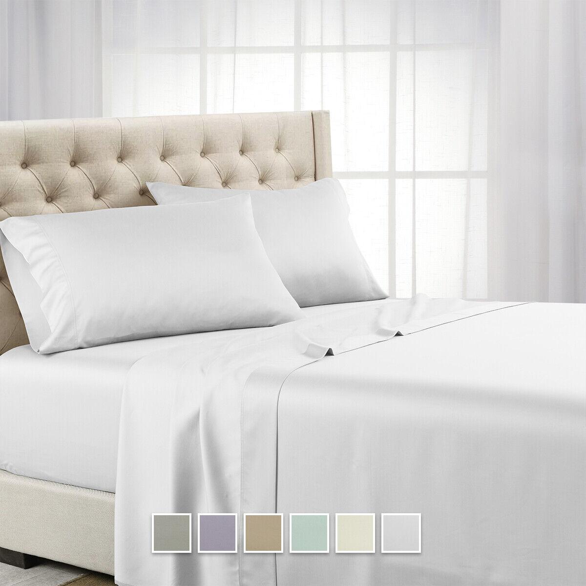 Flex-Top King 100% Tencel Lyocell Sheet Set 600 Thread Count for Adjustable Beds