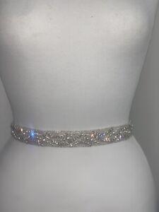 Lily Bella Strass Perle Cristal Mariage Ceinture Nœud De Mariée Applique Motif Prom-afficher Le Titre D'origine Prix De Vente