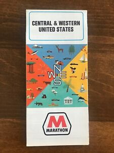 Details about 1967 MARATHON OIL TRAVEL ROAD MAP OF CENTRAL & WESTERN UNITED  STATES New!