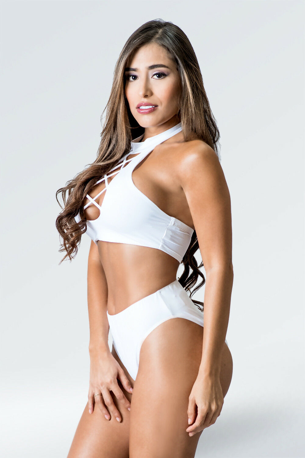 Halter Trap Bikini Set White    FAST SHIPPING FROM FLORIDA e2c454