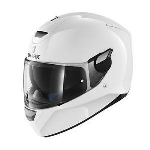 NEU-SHARK-Helm-D-Skwal-uni-weiss-Gr-L-59-60-Motorradhelm-mit-Sonnenblende