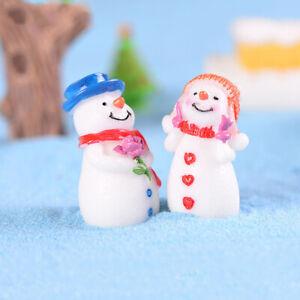 Christmas-Snowman-DIY-Miniatures-Figurine-Garden-Dollhouse-Decor-Micro-LandscaHC