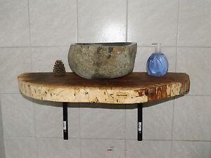 baumscheibe holzscheibe waschtischplatte ca 80 x 40 x 5 cm regalboden ebay. Black Bedroom Furniture Sets. Home Design Ideas