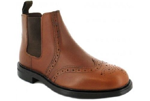 Young Boys Appleby Tan Leather Chelsea Dealer Brougue Ankle Boots Size UK 9-13