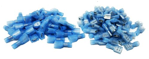 400pcs MALE+FEMALE METRA INSULATED QUICK DISCONNECT TERMINAL NYLON Blue 16-14AWG