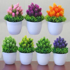 Artificial Office Desktop Bonsai Flowers Potted Plant Home Table Decoration