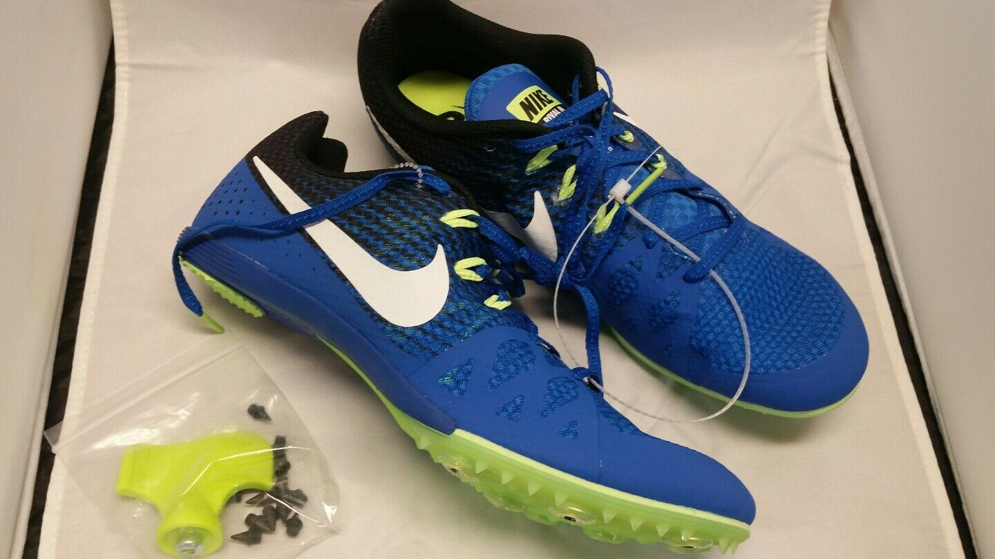 New! Men's 10.5 Nike Zoom Rival M8 Cobalt Blue Track Shoes w/Spikes 806555-413