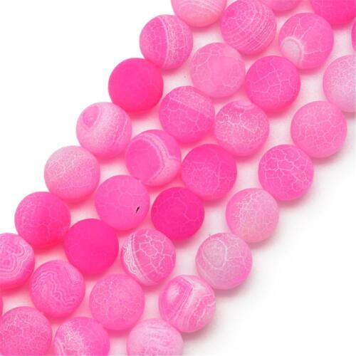 Edelsteine Achat Perlen Rund 8mm Matt Pink Natur Achatstein Schmucksteine R311