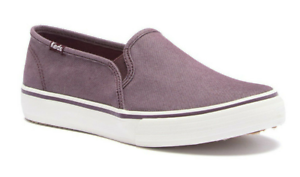 Keds-Women-039-s-Burgundy-Double-Decker-Shimmer-Chambray-Shoes