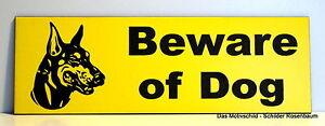 Möbel & Wohnen Beware Of Dog,türschild,dobermann,gravur,15 X 5 Cm,warnschild,hundeschild,schil Von Der Konsumierenden öFfentlichkeit Hoch Gelobt Und GeschäTzt Zu Werden