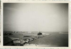 PHOTO-ANCIENNE-VINTAGE-SNAPSHOT-PAYSAGE-MER-BATEAU-SETE-SEA-BOAT-1949