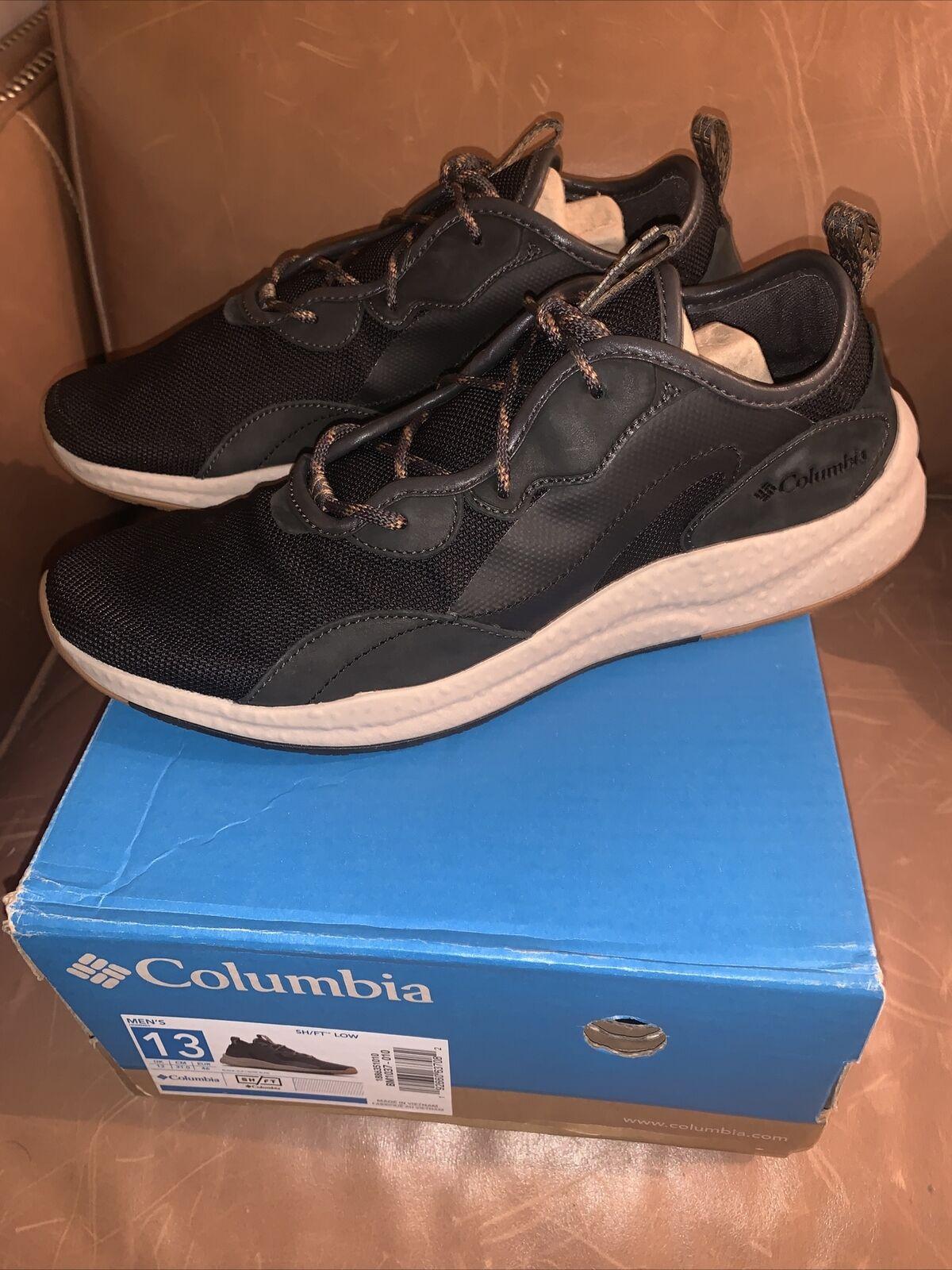 NIB Columbia Men's SH/FT Low Sneaker - Color: Black / Elk - size 13