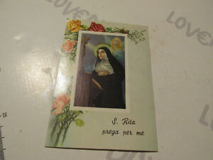 Carte Postale Vintage Religieuse Santa Rita De Cascia Shipped