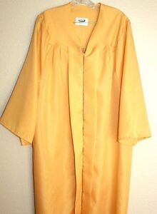 Gold Yellow Graduation Gown Choir Clergy Robe Costume Matte ...