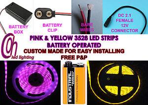 Custom led strip lights yellow pink kits for customising any car image is loading custom led strip lights yellow amp pink kits aloadofball Images