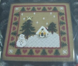 Mill-Hill-Buttoned-amp-Beaded-Holiday-IV-Winter-Pines-1996-Kit-SEALED-MHCB76