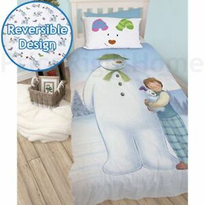 The-Snowman-And-Snowdog-Housse-Couette-Simple-Set-Garcons-Filles-2-IN-1-Design