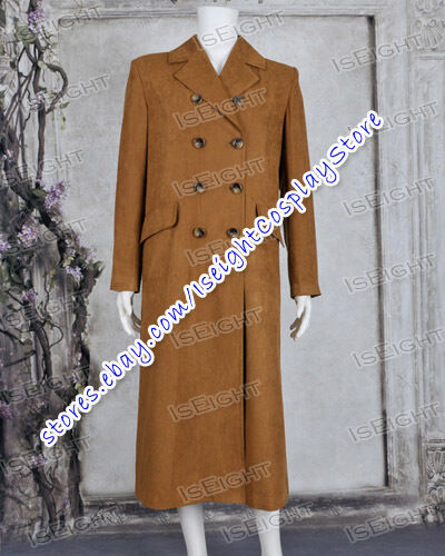 Who Is Doctor Cosplay The Dr Brown Trench Coat Costume Men Long Jacket In Stock