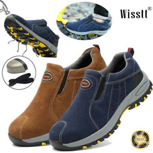 Men-039-s-Casual-Safety-Shoes-Steel-Toe-Breathable-Work-Boots-Hiking-Climbing-Shoes