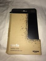 Kindle Black Leather Cover Amazon Digital Reader Nip
