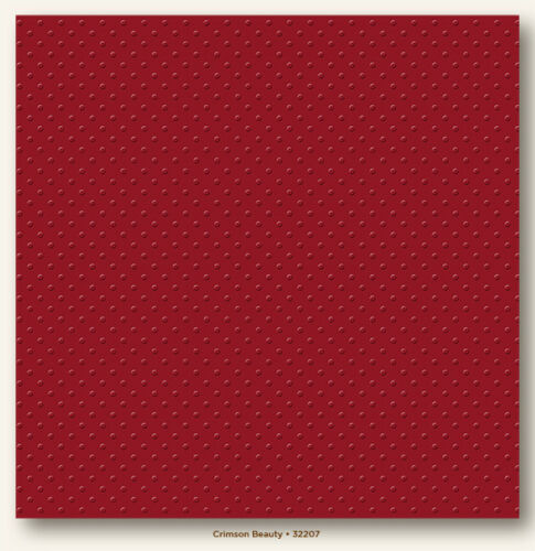 Christmas Embossed 12x12  Debossed Dotted Cardstock-Crimson Beauty T032207 Red