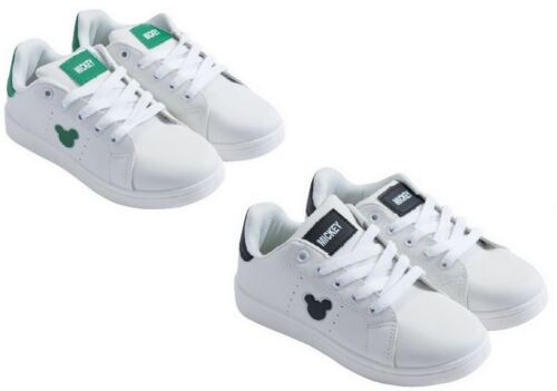 Disney Mickey Mouse Trainers Sneakers Shoe Green or Black Kids Eu Sizes