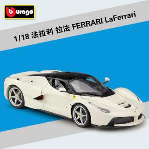 entrega rápida Bburago 1 1 1 18 Ferrari LaFerrari Diecast Metal Modelo Roadster Coche blancoo Nuevo En Caja  el mejor servicio post-venta