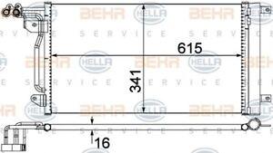 Dynamique 8fc 351 309-134 Hella Condenseur Climatisation-afficher Le Titre D'origine En Quantité LimitéE