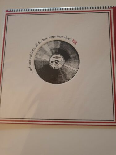 toutes les chansons d/'amour étaient sur vous Valentine record carte gratuite Et soudain