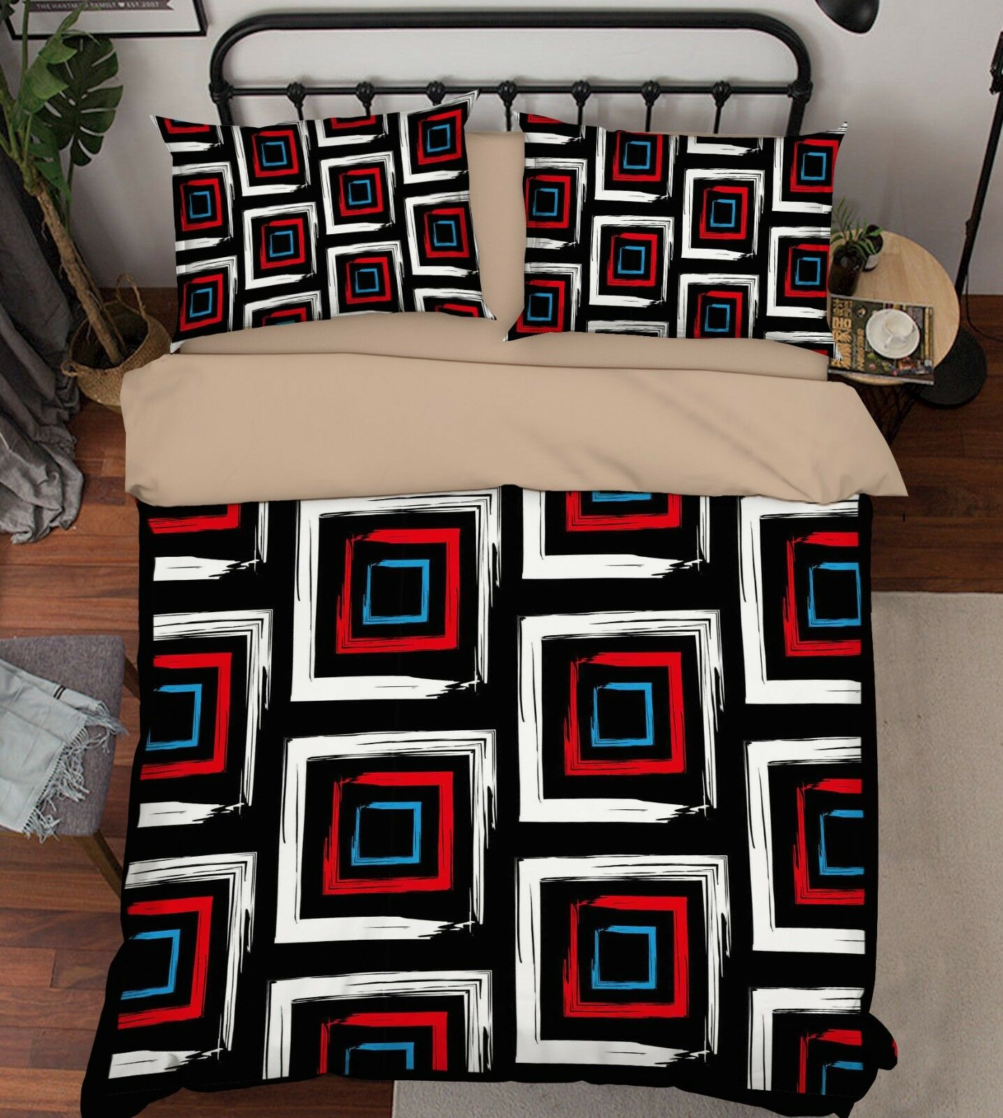 3D Pattern 141 Bett Pillowcases Quilt Duvet Startseite Set Single Königin König Größe AU