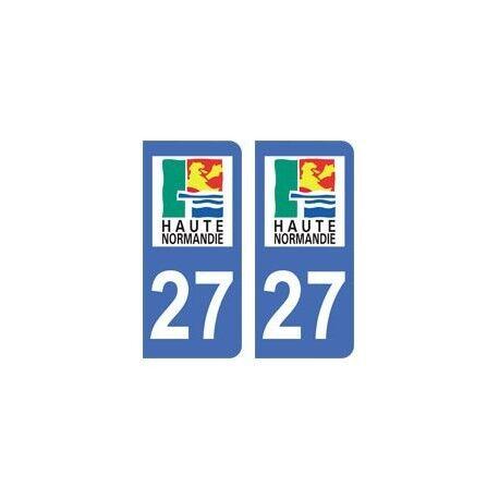 27 Eure autocollant plaque droits