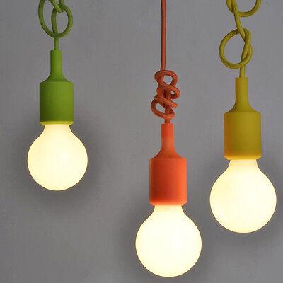 Vintage Colorful Ceiling Lamp Fixture Pendant Light Bulb DIY Chandelier Decor