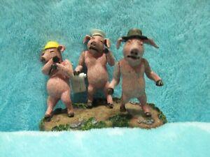 RARE-2001-McFarlane-Shrek-3-Little-Pig-On-Base-Action-Figure-Toy-Minfigure-2-034