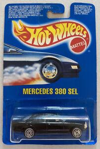 1990-Hotwheels-Mercedes-380-Sel-Preto-Vintage-Perfeito-Moc-muito-Raro