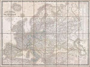 GEOGRAPHY-MAP-ILLUSTRATED-ANTIQUE-LOGEROT-EUROPE-LARGE-POSTER-ART-PRINT-BB4422A