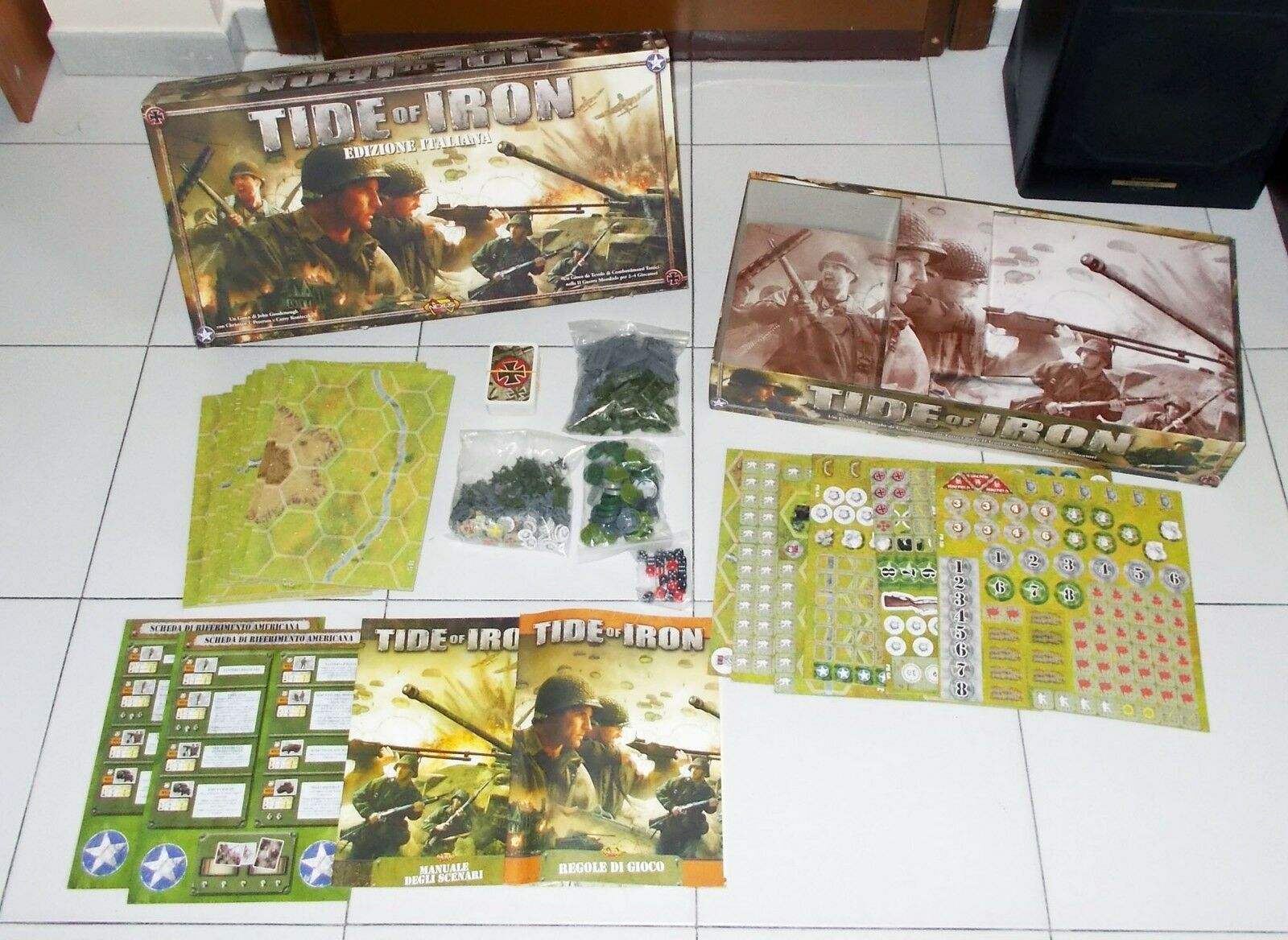 TIDE OF IRON Fantasy Flight Games 2007 Edizione ITALIANA PERFETTO WWII