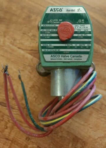 "ASCO Solenoid Valve 8210G2 1//2/"" 8.1W 5-150psi A12"