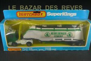 MATCHBOX SUPER KING. Camion BEDFORD remorque ciment.  REF: K3 + Boite. (1981)