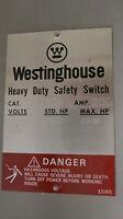 Westinghouse Hfn324j 200 Amp 240 Volt 3 Pole Nema 12 Fusible Disconnect