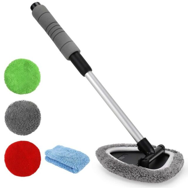 5 in 1 Windshield Cleaning Tool Microfiber Car Interior Window Cleaner with A7X4