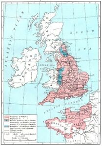 Show Map Of England.Details About England England 1087 1154 1956 Old Vintage Map Plan Chart