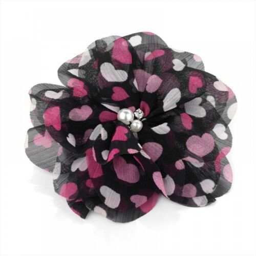 Pattern Flower Pearl Bead and Crystal Hair Elastic Bobble Band Beak Clip Corsage