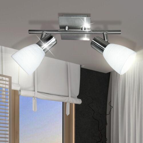 Flur Diele Deckenstrahler 8W LED Doppelspot beweglich Nickel Küche Schlafzimmer