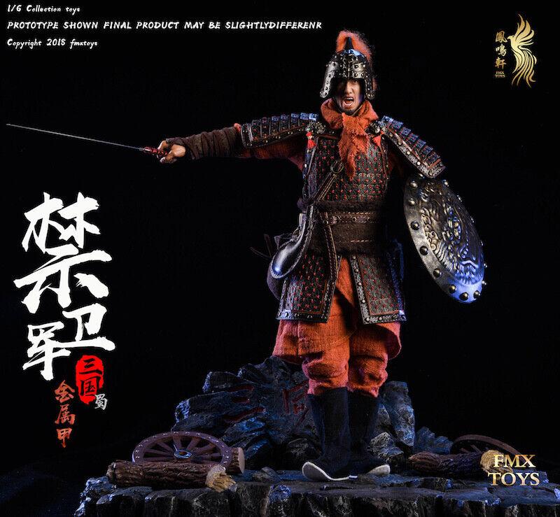 FMxtoys 1 6 F002 Three Kingdoms Metal Armor Shu. Guards Ancient Soldier Figure