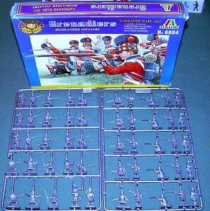 Italeri-Napoleonic-Highland-Infantry-Grenadiers-1-72-plastic-MIB-6004
