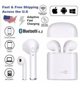 3059a547479 Image is loading Bluetooth-Audifonos-Auriculares-Sonido-estereo-para-iPhone- Samsung-