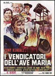 I-VENDICATORI-DELL-039-AVE-MARIA-MANIFESTO-CINEMA-FILM-WESTERN-1971-MOVIE-POSTER-2F