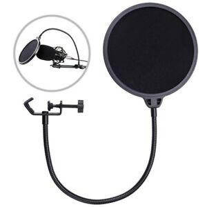Double-Layer-Studio-Microphone-Mic-Wind-Screen-Mask-Gooseneck-Shield-Pop-Filter